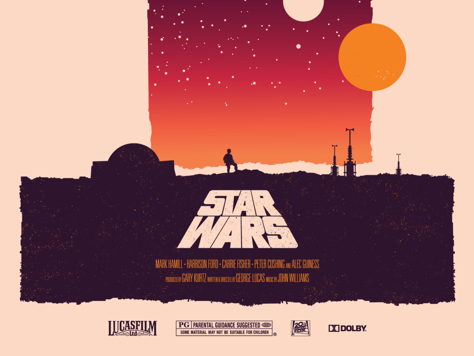 Star Wars Episode Iv A New Hope Poster By Stephen Mccann On Dribbble