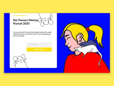 Signup page - UI daily challenge web signup screen signup page uiux figmadesign figma uidailychallenge uidaily ui illustration
