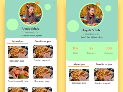 User profile - Daily UI day 6 web app profile app user profile dailyui 006 ux dailyuichallenge uiux uidaily ui figmadesign figma