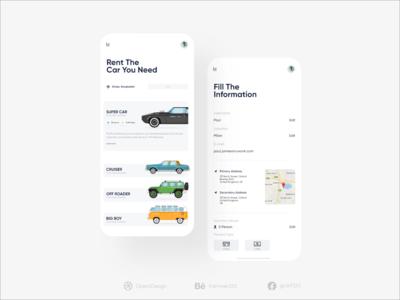 Rental Car App UI