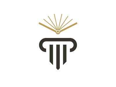 Legal Education education law graphic branding geometric simple minimal flat logo design
