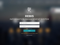 REBIS Login Screen (redesign)