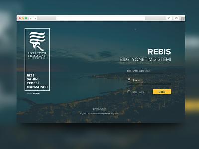 REBIS Login ui simple rebis minimal login flat design blur