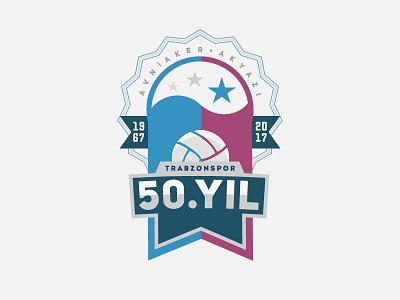 Trabzonspor 50th Anniversary trabzonspor logo football club celebration anniversary