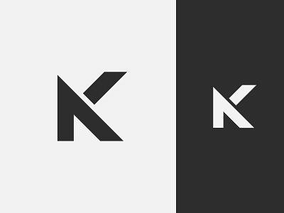 NK Monogram flat vector graphic design minimal simple letter monogram nk