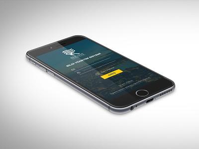 REBIS Login Mobile mobile ui simple rebis minimal login flat design blur