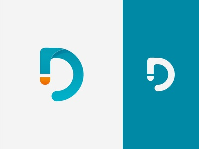Digivolution Second Concept flat branding vector digital marketing design graphic simple minimal boomerang letter d logo