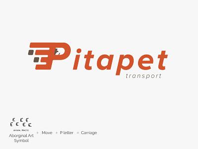 Pita Pet Transport Logo v1 letter p design graphic logo carriage transport taxi pet