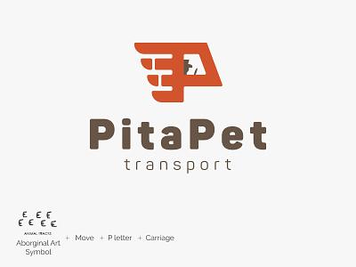Pita Pet Transport Logo v2 design graphic logo carriage transport taxi pet