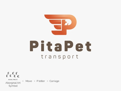 Pita Pet Transport Logo v3 design graphic logo carriage transport taxi pet