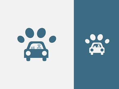 Pet Transport Logo V2 vector transport taxi simple pet minimal logo graphic flat design carriage branding