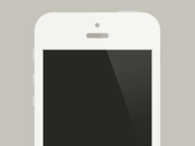 Flat white iPhone 5. iphone flat psd gift share love