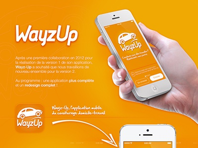 Wayzup V2 iphone ios7 ios apple app car travel