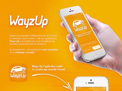 Wayzup V2 iphone ios7 ios apple app car travel