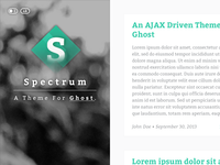 Spectrum, a theme for Ghost.