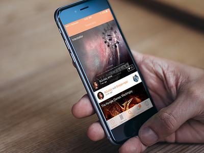Myseeen ios app movie theater design ui