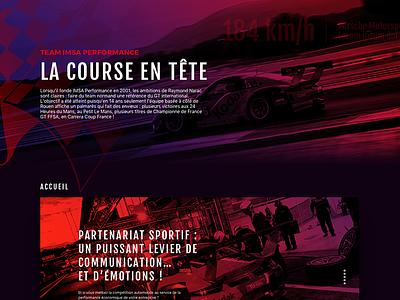 IMSA Performance design sport car webdesign