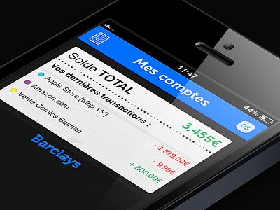 Bankin ui ios app iphone design