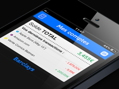 Bankin ui ios app iphone design
