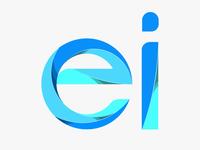 "Letters ""ei""  blue vector style letter yp yoga perdana"