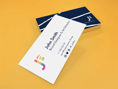 Free Colorful & Minimal Card 2 freebie free graphic design branding personal branding stationary complementary card yellow business card