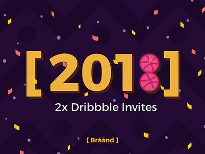 2x Dribbble Invites invitation invite draft dribbbleinvitation dribbbleinvite