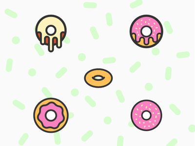 Life is Like A Donut icon catering food pastry donut