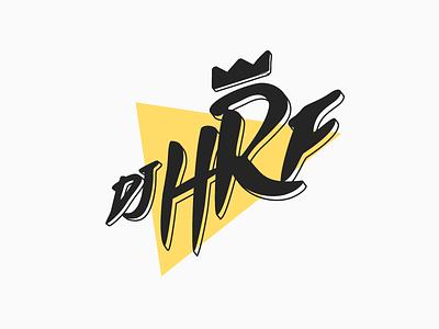 DJ HRF branding logo typography funky thunder againts dj music