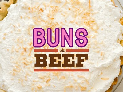 Buns & Beef branding chef food catering cake beef grill sweet logo