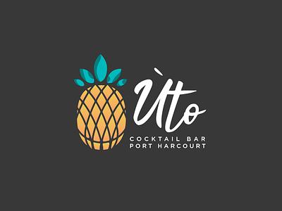 Úto (Sweet) sweet food bar cocktail pineapple design branding logo
