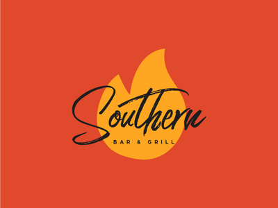 Southern Bar & Grill flame orange fire meat southern grill bar food