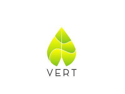Vert branding logo cosmetics skincare green natural healthy