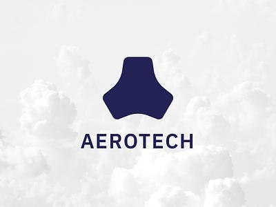 Aerotech identity white sky blue logomark mark logotype logo