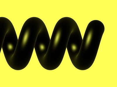 Helix render yellow black spiral helix 3d spline