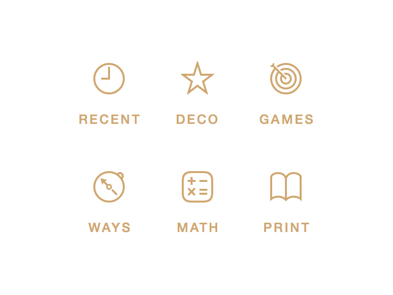 New Chars Pictograms icons vector chars pictograms book calculator darts star clock compass