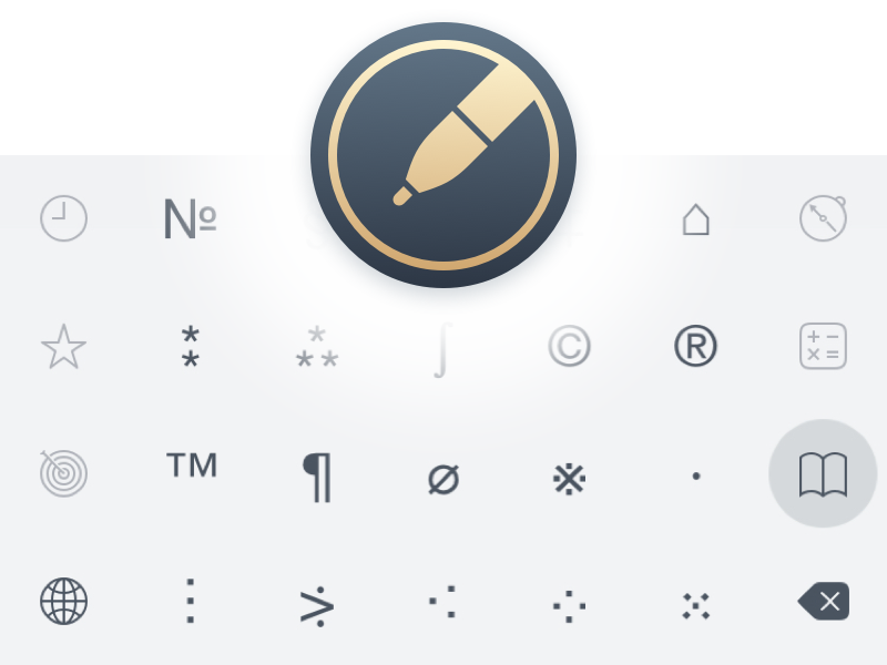 New Chars Keyboard icons pictograms ios chars extension keyboard keys unicode pen