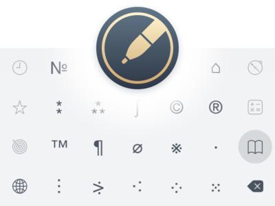 New Chars Keyboard