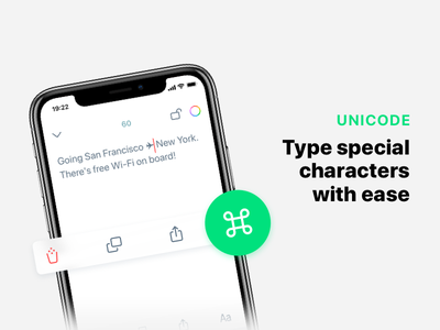 Chars 2 at App Store share copy delete iphone screenshot ui interface notes app store ios chars unicode