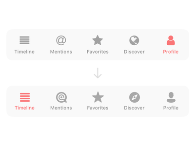 UI Icons for Icro github navbar timeline tabbar star profile at mark compass pictograms ui icons app ios blog micro micro.blog icro