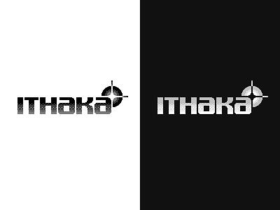 Ithaka Logo 2 white black gradient shiny shine 8 bit pixels pixel art lettering star dithering retro mark logomark logotype logo ithaka ithaca