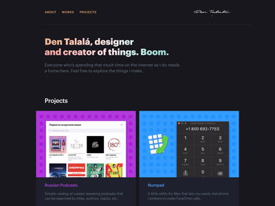 Talala.info html css personal project website portfolio