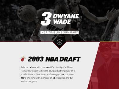 Dwyane Wade - NBA Timeline Summary