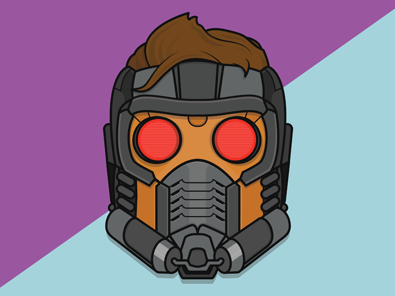 Starlord sci-fi hero mask face illustration peter quill star lord starlord comics marvel