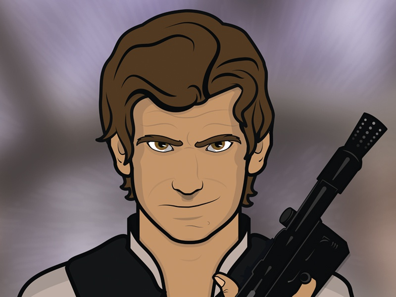 Han Solo vector illustration character star wars han solo