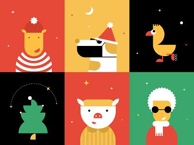 New Year's mood illustrations art illustrator icon ui vector minimal design illustration