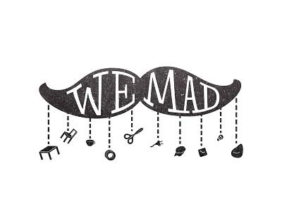 We Mad logo mad illustration typography lettering