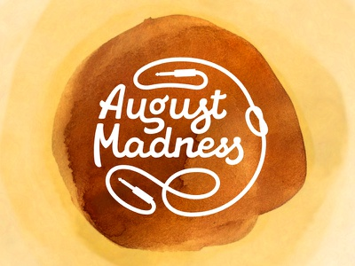 August Madness logo lettering jack cable ligature