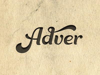 Adver Logo WIP logotype lettering cursive swash soft