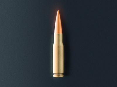 Bullet itself illustration bullet shining metal glossy