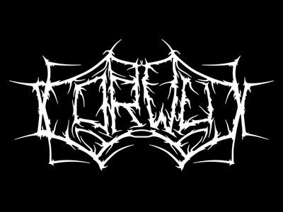 Corwux logo death metal organic